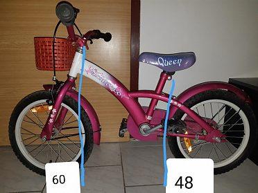 """Dívčí kolo 16""""Dechatlon+košík"""