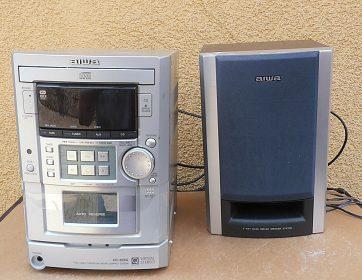 Rádio s kazeťákem AIWA + CD přehrávač