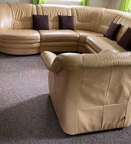 Prodám koženou sedací soupravu s rozkládacím lůžkem