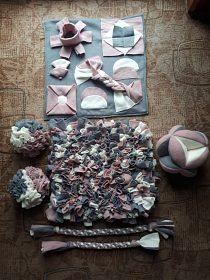 Čmuchací koberečky, dečky, koule a fleecové hračky