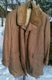 Prodám levně 3/4 pánský zimní béžový kabát č. 53