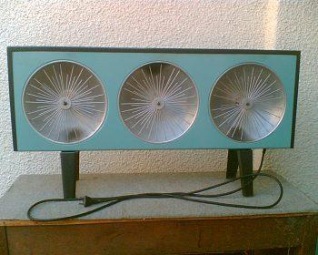 Kamna elektrická se třemi zářiči - elektrický radiátor