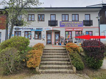 Pronájem obchodních prostor na promenádě v Lipno nad Vltavou