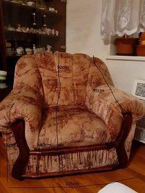 Křeslo + gauč