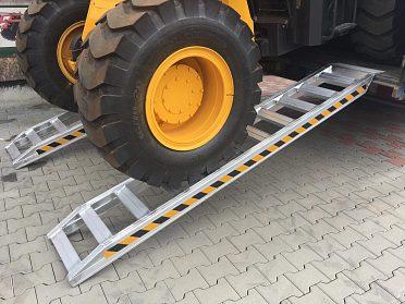 Hliníkové nájezdové rampy 210cm, 5 t