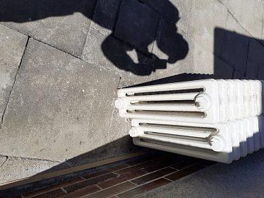 Litinové radiátory.