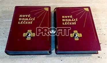 Starožitné lékařské knihy Nové domácí léčení z roku 1920