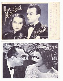 Originální staré filmové pohlednice Mandlová, Nový, Korbelář