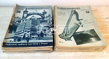 Časopisy Radiojournal, ročník 1933