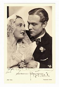 Lída Baarová a Gustav Fröhlich, podpisy, rok 1935