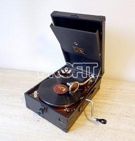 Starožitný gramofon na kliku HMV