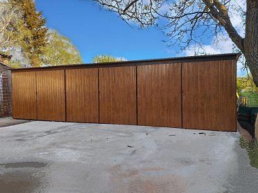 Plechová garáž 9 x 6m