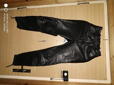 Dámské kožené kalhoty černé Clasic Gear, vel. 36