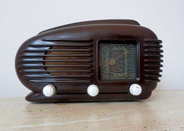 Starožitné a plně funkční ART DECO rádio Tesla Talisman 308U