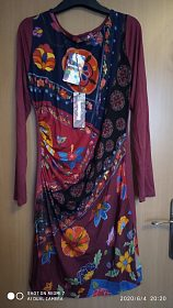 Elastické šaty Desigual, vel. S - AKCE