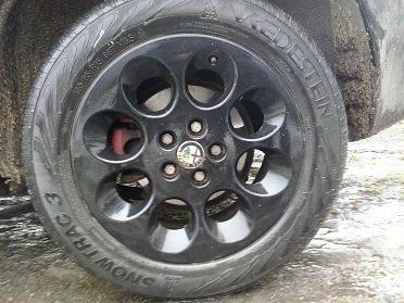 """ALU kola černé barvy 15"""" na ALfa ROMEO 147, 156, Fiat ,"""