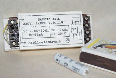 Elektronický předřadník na  9W a 11W zářivky