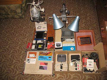 Vybavení pro fotoamatéry.