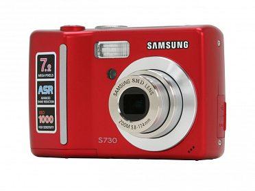 digitální fotoaparát Samsung S730 červený