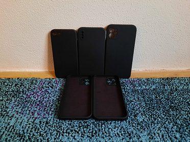 Semišové kryty se silikonovým povrchem pro iPhone