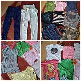 Oblečení vel.s,m 70 kusů