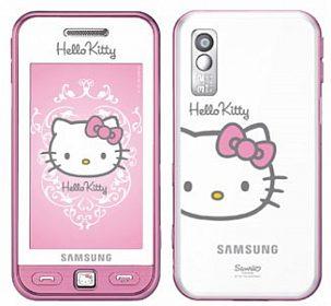 telefon dotykový Samsung S5230 Star Hello Kitty White Pink