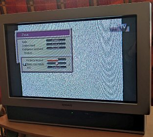 CRT širkokoúhlá TV Mascom, 82 cm, 100 Hz, 2x scart, DO