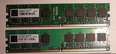 Paměti DDR2 do PC, 512MB, 2 kusy
