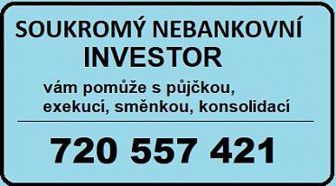 Půjčka od soukromého investora tel 720 55 74 21