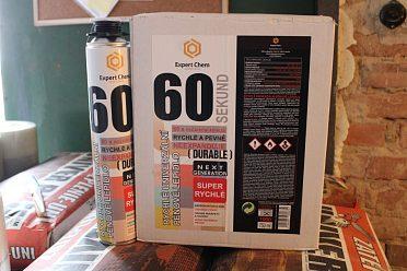 Rychleschnoucí montážní pěnové lepidlo PANZER 60 SEKUND