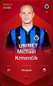 Michael Krmenčík NFT digitální fotbalová kartička