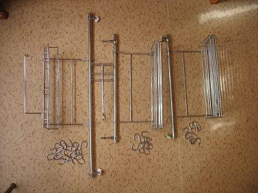 Kuchyňský drátěný set - chrom